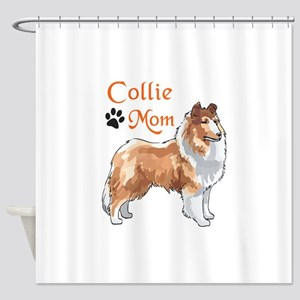 COLLIE MOM Shower Curtain