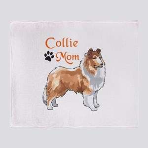 COLLIE MOM Throw Blanket