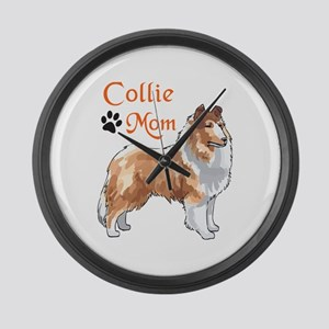 COLLIE MOM Large Wall Clock