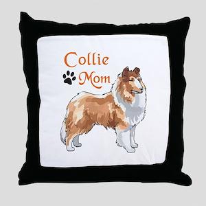 COLLIE MOM Throw Pillow