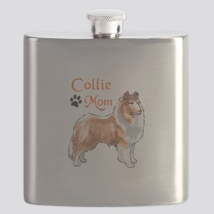 COLLIE MOM Flask