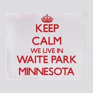 Keep calm we live in Waite Park Minn Throw Blanket