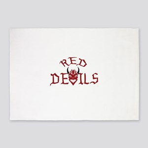 RED DEVILS 5'x7'Area Rug