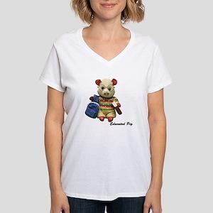Educated Pig women's v-neck t-Shirt