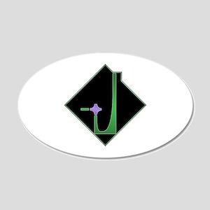 Dominion Emblem 22x14 Oval Wall Peel