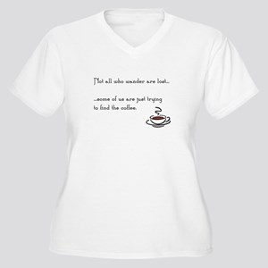 Wandering for Coffee Plus Size T-Shirt