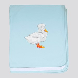 CRESTED DUCK baby blanket