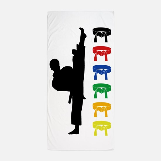 Karate Boys Beach Towel