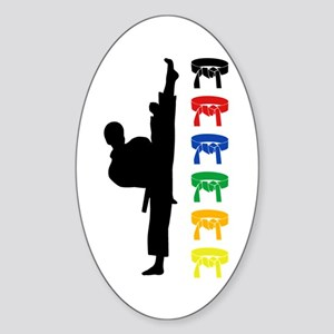 Martial Arts Kids Sticker (Oval)