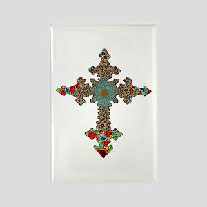 Jewel Cross Rectangle Magnet