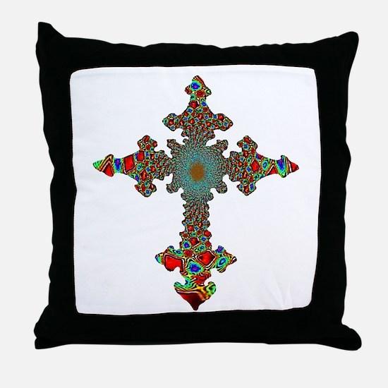 Jewel Cross Throw Pillow