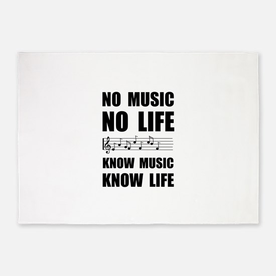 Know Music Know Life 5'x7'Area Rug