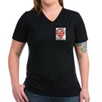 Huzzay Women's V-Neck Dark T-Shirt