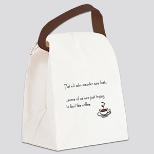 Wandering for Coffee Canvas Lunch Bag