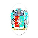 Hutchinson England Oval Car Magnet