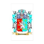 Hutchinson England Sticker (Rectangle 50 pk)