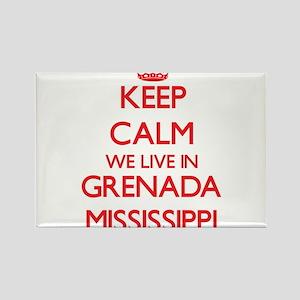 Keep calm we live in Grenada Mississippi Magnets