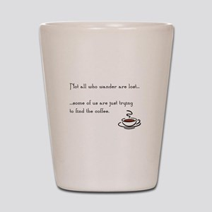 Wandering for Coffee Shot Glass