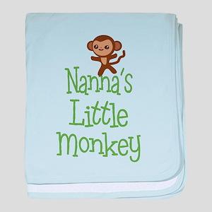 Nanna's Little Monkey baby blanket