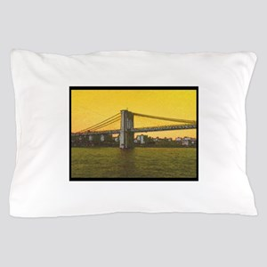 Retro Brooklyn Bridge Majestic NYC Pillow Case