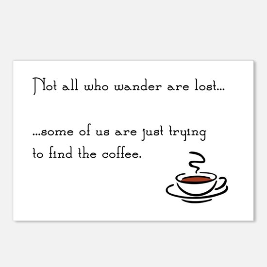 Wandering for Coffee Postcards (Package of 8)