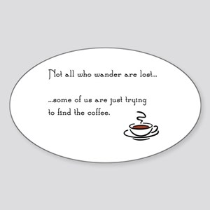 Wandering for Coffee Sticker