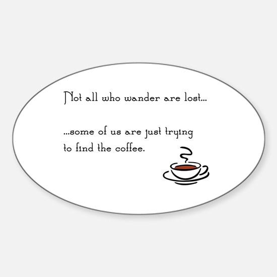 Wandering for Coffee Decal