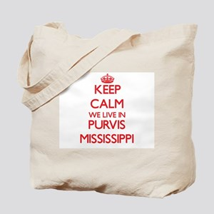 Keep calm we live in Purvis Mississippi Tote Bag