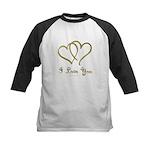 Entwined Gold Hearts Baseball Jersey