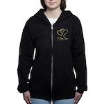 Entwined Gold Hearts Women's Zip Hoodie