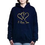 Entwined Gold Hearts Women's Hooded Sweatshirt