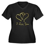 Entwined Gold Hearts Plus Size T-Shirt
