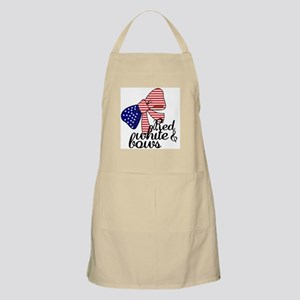 Red White & Bows Apron