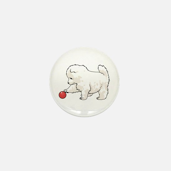 SAMOYED PUPPY Mini Button
