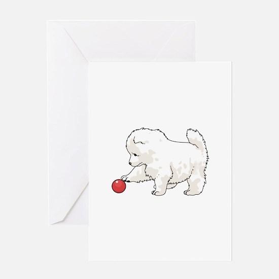 SAMOYED PUPPY Greeting Cards