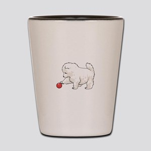 SAMOYED PUPPY Shot Glass