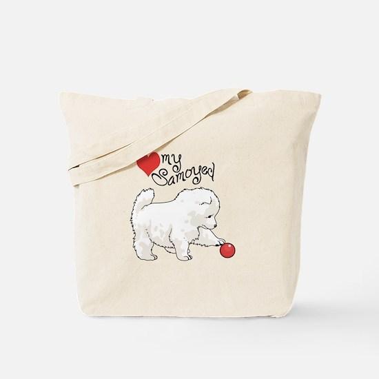 LOVE MY SAMOYED Tote Bag