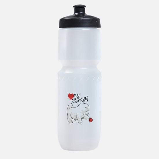 LOVE MY SAMOYED Sports Bottle