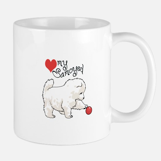 LOVE MY SAMOYED Mugs