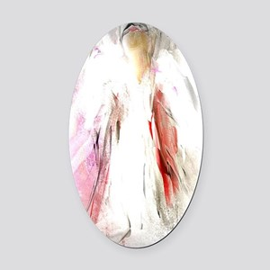 Abstract Angel in White Oval Car Magnet