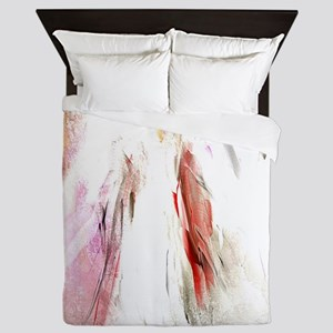 Abstract Angel in White Queen Duvet