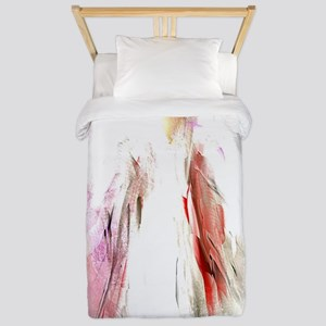 Abstract Angel in White Twin Duvet