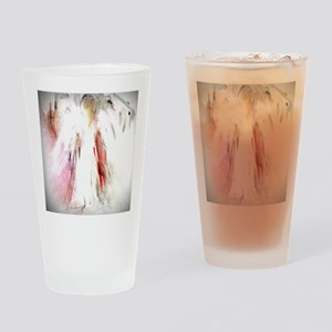 Abstract Angel in White Drinking Glass