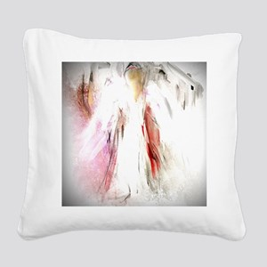 Abstract Angel in White Square Canvas Pillow