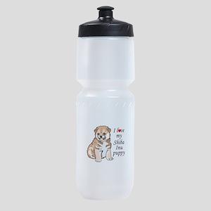 LOVE MY SHIBA INU Sports Bottle