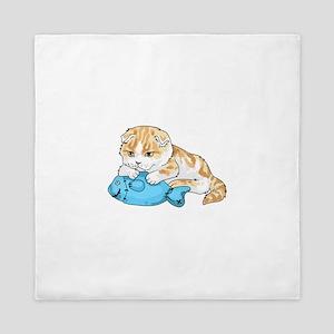 SCOTTISH FOLD CAT Queen Duvet