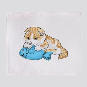 SCOTTISH FOLD CAT Throw Blanket