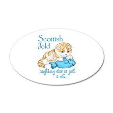 Scottish Fold Cat Wall Decal