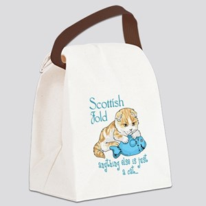 Scottish Fold Cat Canvas Lunch Bag