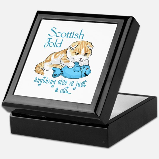 Scottish Fold Cat Keepsake Box